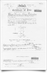 Certificate of Title